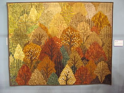 Log cabin forest. Japanese quilter