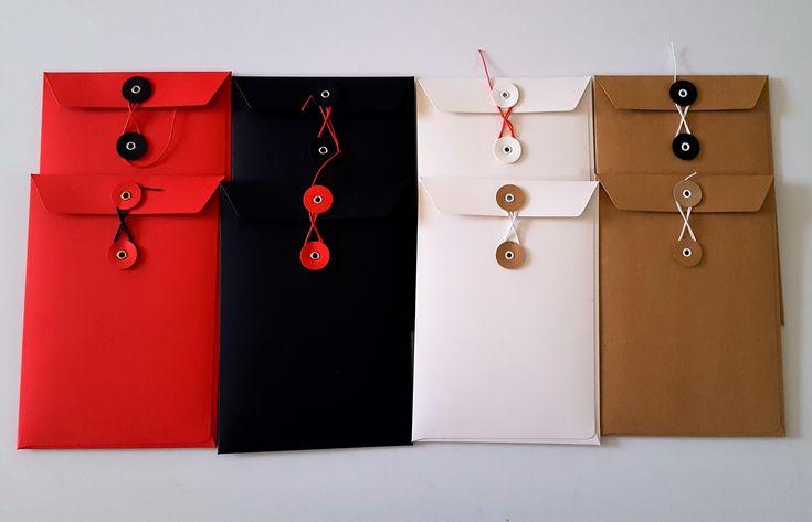 Cardboard envelopes in retro style