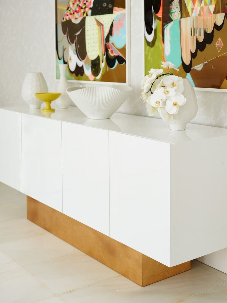 Greg Natale for Worlds Away Credenza White
