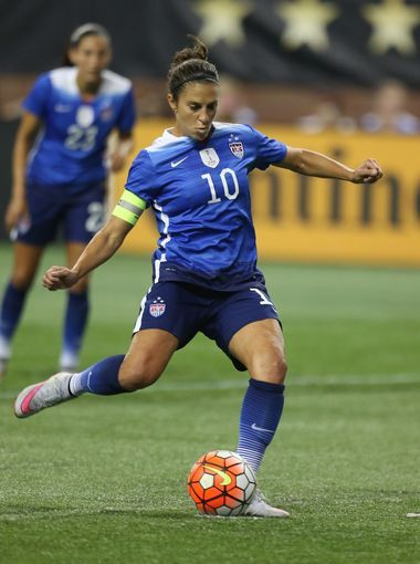 Carli Lloyd vs. Haiti, Sept. 17, 2015. (Kirthmon F. Dozier/Detroit Free Press)