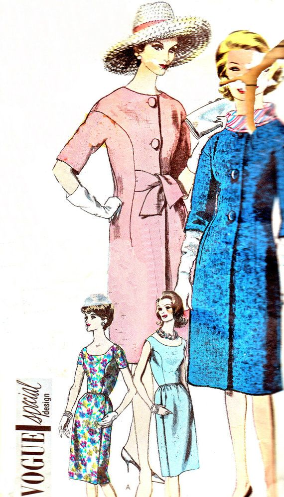 1950s Dress Pattern Coat Pattern Vogue 5461 Special by paneenjerez, $75.00