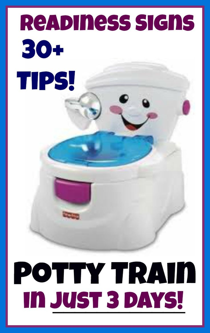 Potty train in just 3 days! Tips,readiness signs, and more!