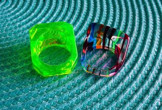 Chunky 90s rings.  I had so many of these.  Wish I kept them.
