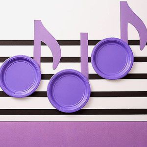 School is Cool Birthday Parties: Science, Art, Music, and Reading: Music Party: Set the Theme