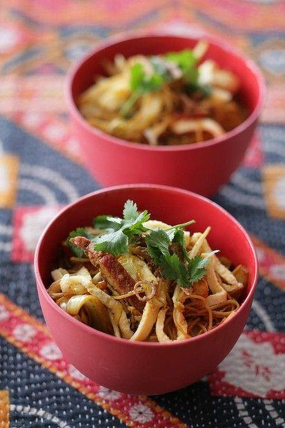 Caroline Velik's Singapore noodles. Photo: Marina Oliphant