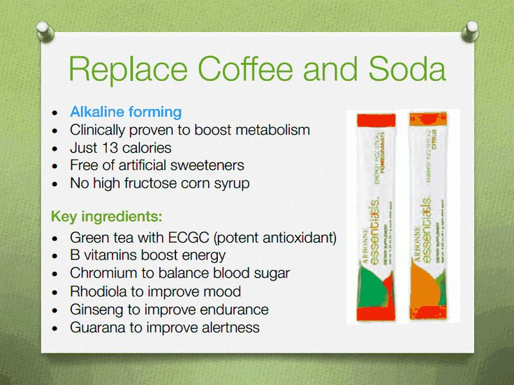 Replace coffee and soda with Arbonne fizz sticks. They are a must have!!! Costs about as much as a soda & much healthier than the energy drinks out there! I am addicted to these! Www.bridgetlindsay.arbonne.com