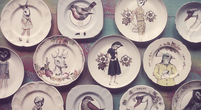Art Plates by Terry Angelos | House and Leisure