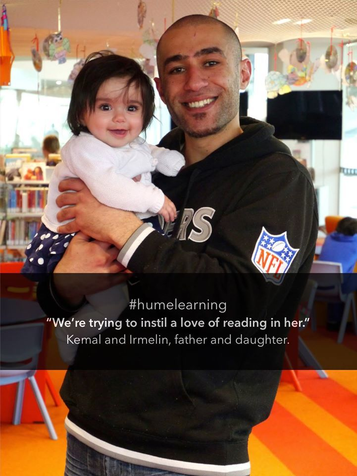"""We're trying to instil a love of reading in her."" - Kemal and Irmelin, father and daughter  #humelearning"