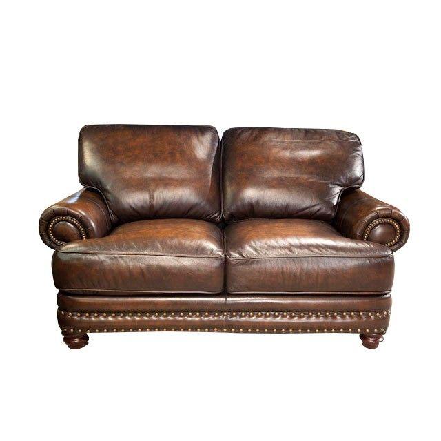 TV Fireplace Room -- $1449 - Westbury Brown Living Room Loveseat B&P