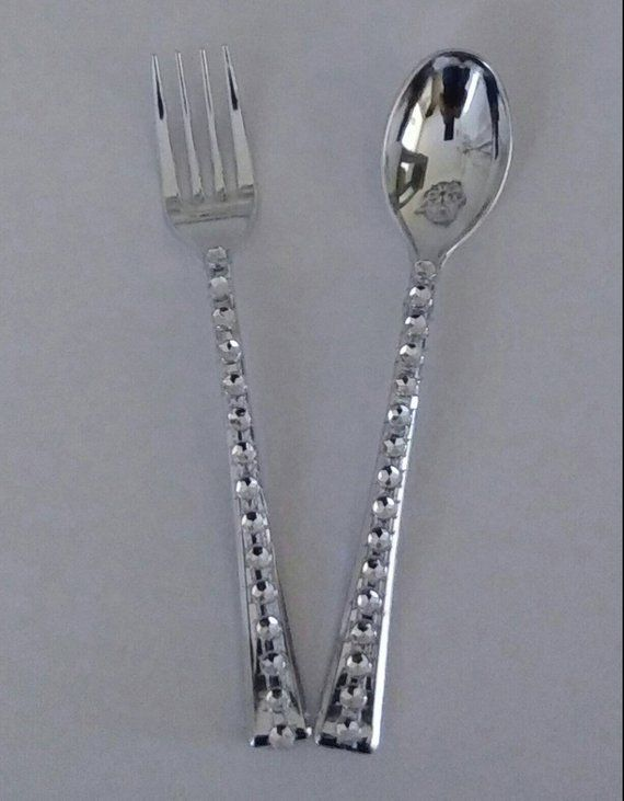 Dollhouse Spoon Fork Knife Silverware Flexible Mold By Themoldhut 3 95 Doll House Paper Clay Molding Clay