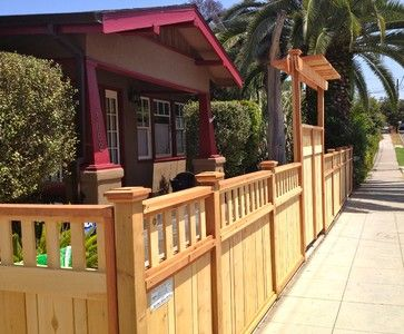 Craftsman Fence Design Ideas, Pictures, Remodel, and Decor - page 3