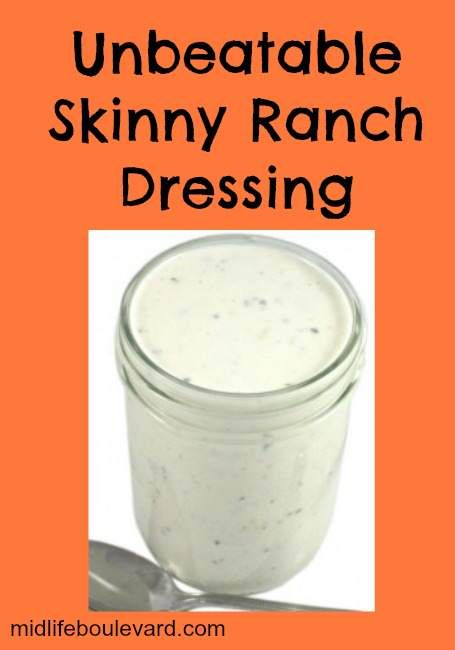 Thanks Midlife Boulevard for sharing my Skinny Ranch Dressing Recipe ...