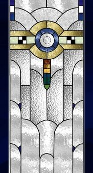 art deco, stained glass window