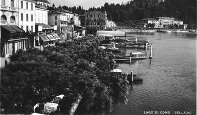 Bellagio: the pier and Piazza Mazzini at the beginning of the years '40 of the XX century