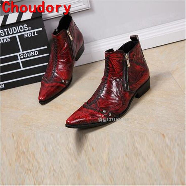 93.00$  Watch here - http://ali451.shopchina.info/1/go.php?t=32787893091 - British style mens waterproof winter boots spring autumn military boots red black western cowboy boots dress wedding shoes  #shopstyle