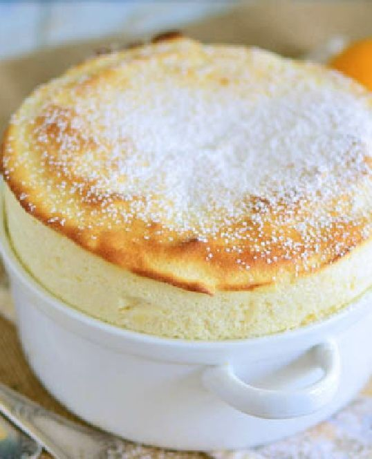 Low FODMAP Recipe and Gluten & lactose free Recipe - Lemon soufflé with Raspberries http://www.ibssano.com/low_fodmap_recipe_lemon_souffle.html