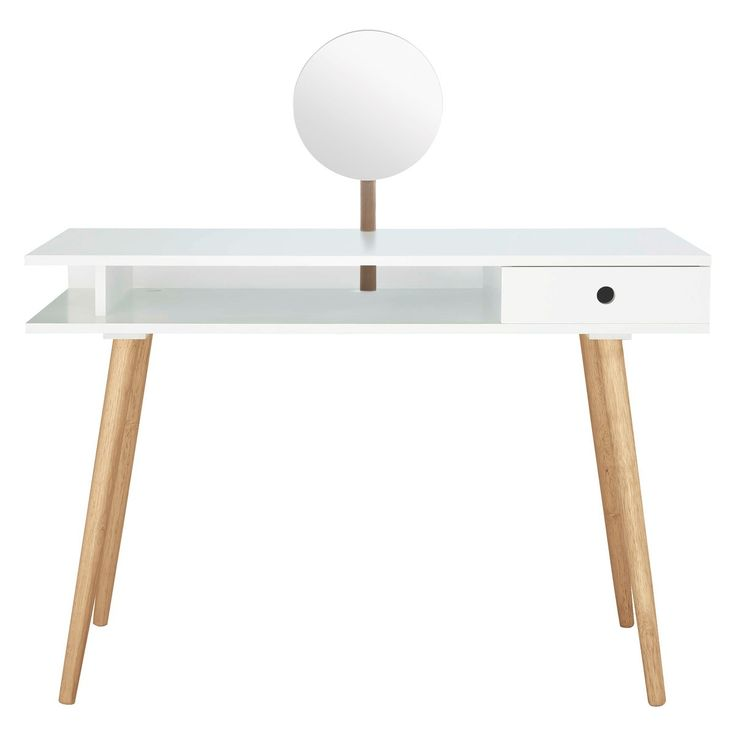 CATO Large White Dressing Table With Mirror