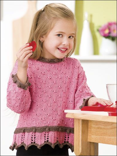 Knitting - Patterns for Children & Babies - Sweater Patterns - Little Miss Strawberry