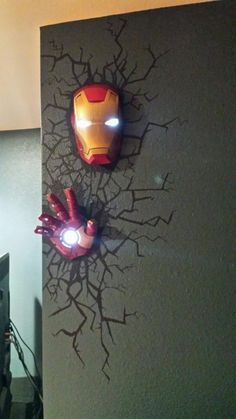 Line these in the movie theatre room. | DIY Superhero Bedroom Ideas /fatheaddecals/