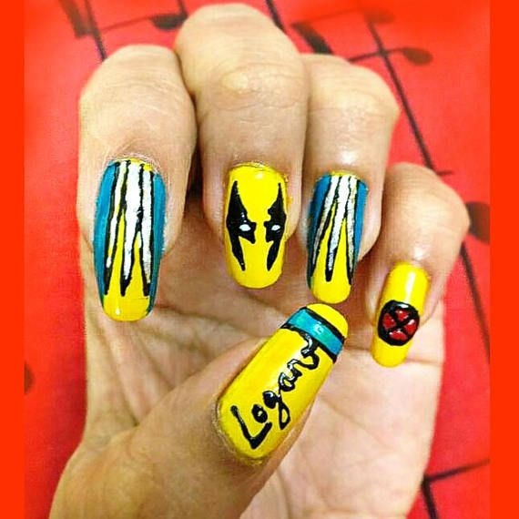 Check out this item in my Etsy shop https://www.etsy.com/uk/listing/539309732/wolverine-nail-art-nail-glue-free