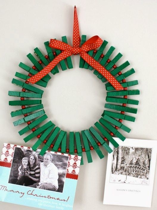 Christmas Wreath Card Holder by Craftiness is not Optional