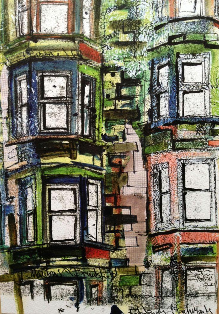 Edinburgh Tenement building windows