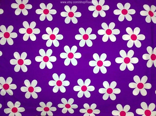 This Daisy Print Fabric Is Simply Unique! It Is Indian Block Print Fabric With Large Floral Print Designs All Over It. Price: $11.99 http://www.mamtamotiyani.com/product/large-floral-print-fabric-extra-wide