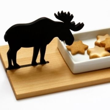 Moose cookie bowl CHRISTMAS IN #HTFSTYLE