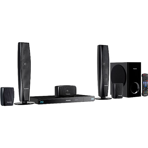 Panasonic  SC-BTT273 5.1CH Home Theater System with 3D Blu-ray Playback and Wi-Fi, Refurbished