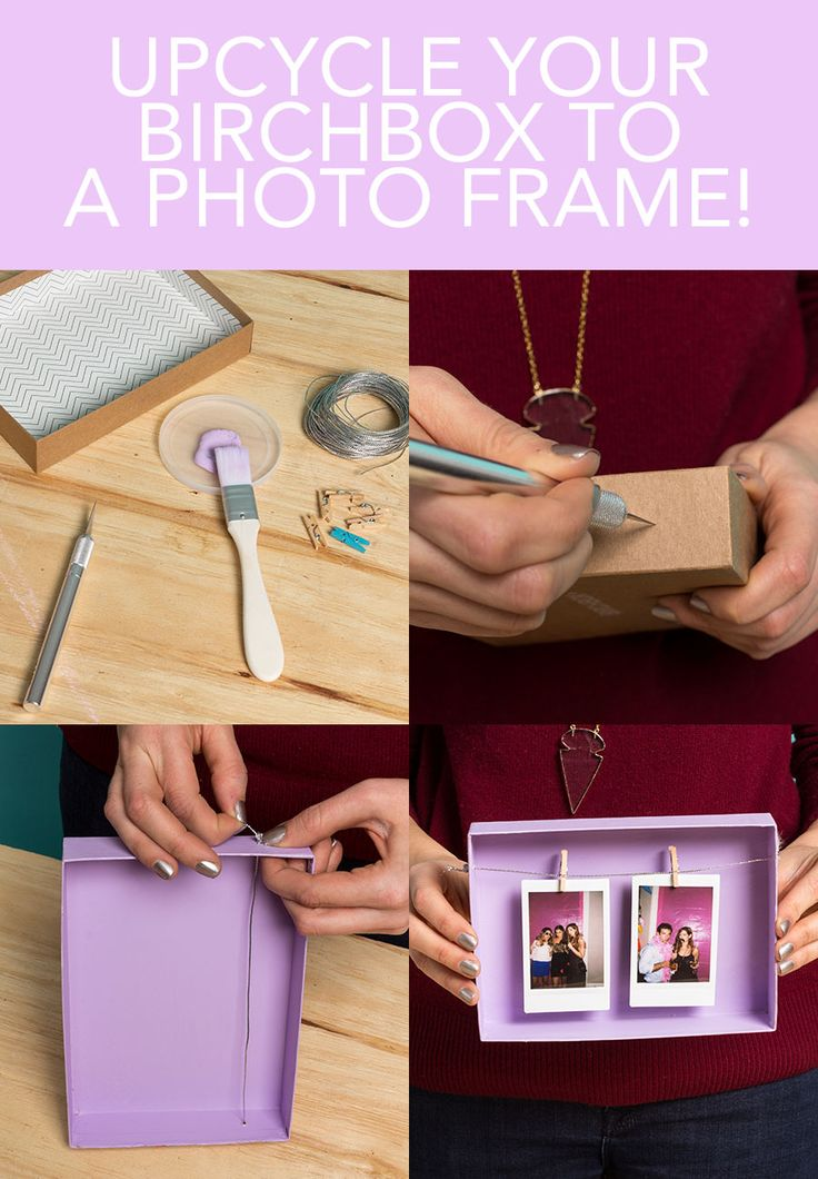 "Birchbox Upcycle: ""Open Concept"" Frame...still have some old boxes somewhere"