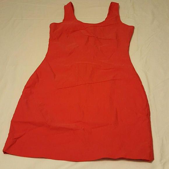 Red mini dress Stretch mini dress, stitches missing on back right. Dresses Mini