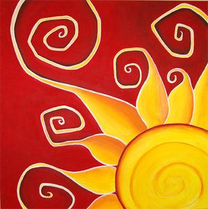 Etu II Sun Painting by Shadi Desjardins                                                                                                                                                                                 More