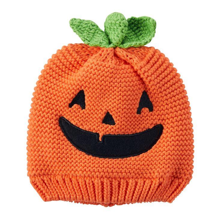 Baby Carter's Halloween Knit Jack-O-Lantern Beanie Hat, Infant Unisex, Size: 0-3 Months, Orange