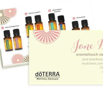 Intro to Aromatouch (Pink) doterra business card