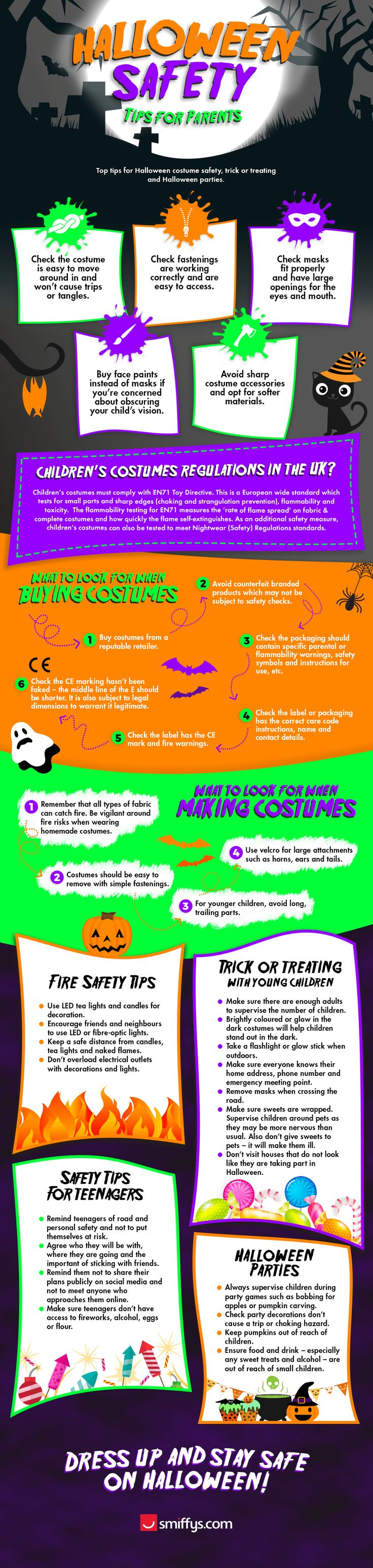 dress up and stay safe this halloween - Halloween Tips For Parents