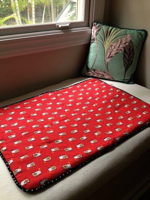 Red Black White Polka Dot - Cat Blanket by BarkingDogBlankets
