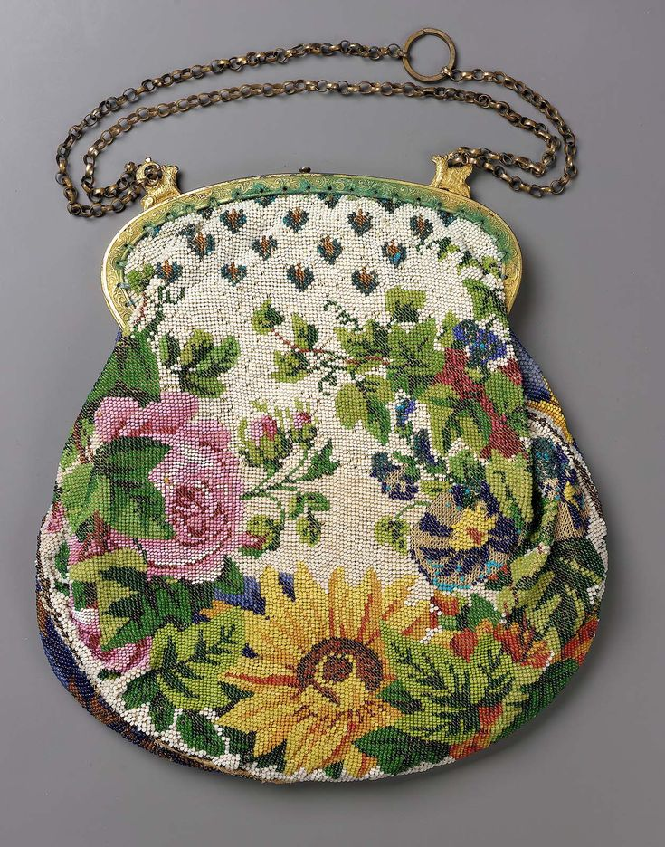 1820-1850, Europe - Bag - Cotton and beadwork