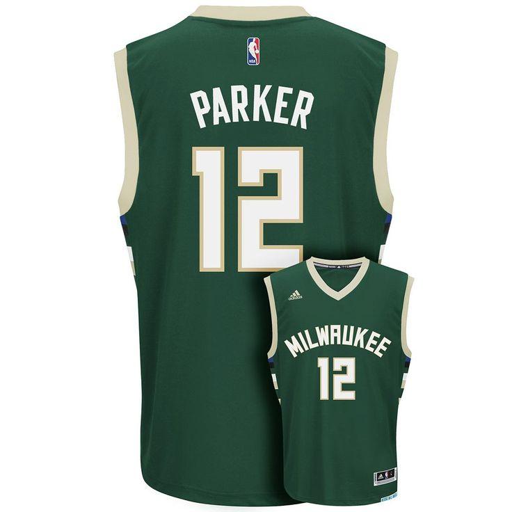 Adidas Men's Milwaukee Bucks Jabari Parker Replica Jersey, Size: Small, Dark Green