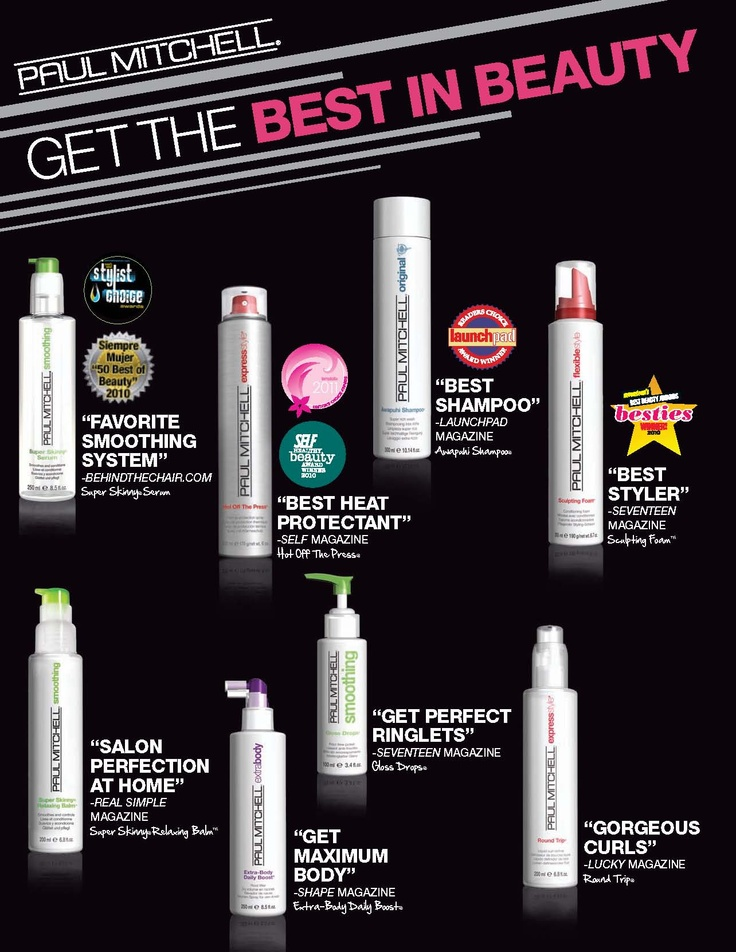 Get the Best in Beauty with Paul Mitchell Products.