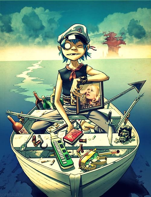 Jamie Hewlett - Gorillaz, Illustration by Jamie Hewlett, I like the colours used and the style of drawing a lot.