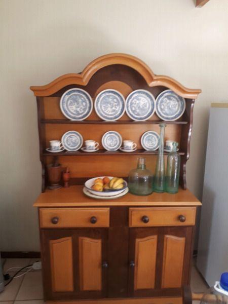 Imbuia And Yellow Wood Dining Table Set