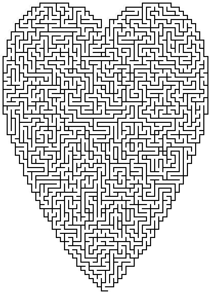 Level 3 von 5 - mittelschwer; Alter: ab 8 Jahre; Heart Maze