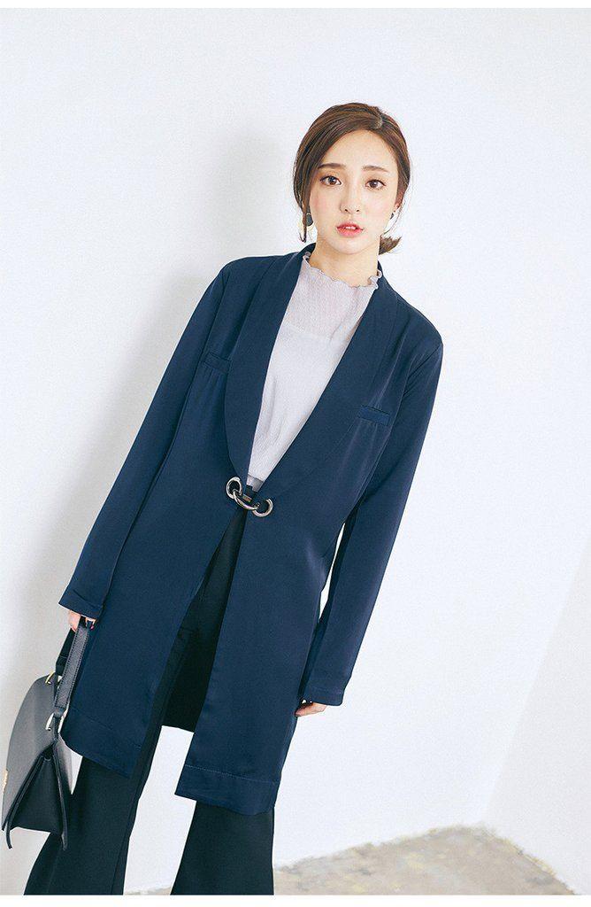 Korean fashion buckle jacket