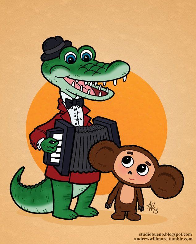 Картинки чебурашка и крокодил
