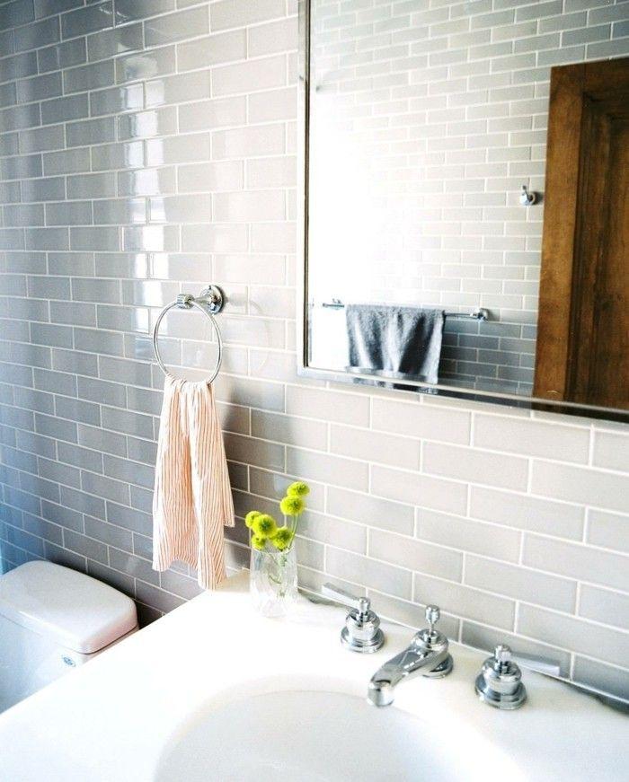 Die besten 25+ Grau weißes badezimmer Ideen auf Pinterest - badezimmer fliesen grau