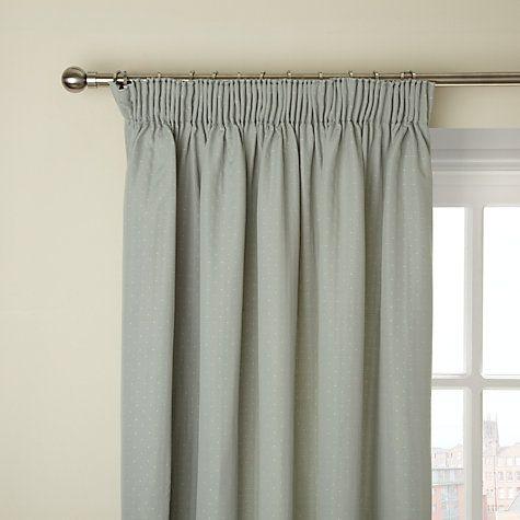 Buy John Lewis Mini Dot Pencil Pleat Lined Curtains, Eau de Nil Online at johnlewis.com