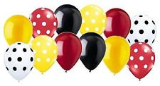 12 pc Mickey Mouse Inspired Polka Dot Latex Balloons Party Decoration Disney