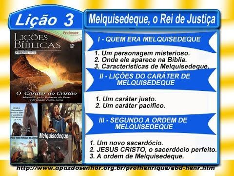 Melquisedeque, o Rei de Justiça - EBD na TV - EBDWeb