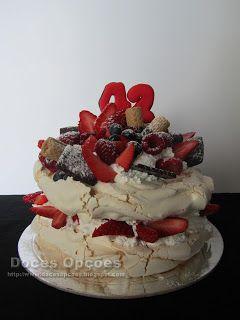 Doces Opções: Pavlova de aniversário