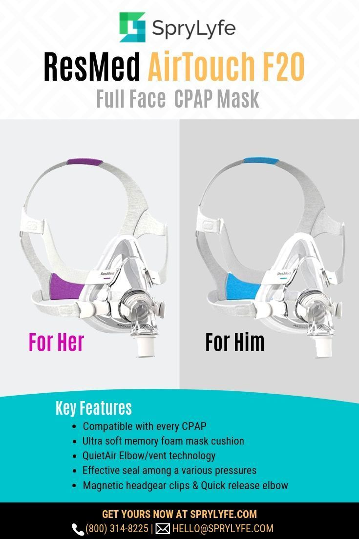 Resmed Airtouch F20 Full Face Cpap Mask With Headgear Cpap Cpap Mask Skin Marks